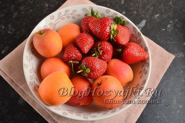 Варенье из клубники и абрикосов на зиму