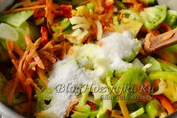 Салат из зеленых помидоров на зиму - 10 очень вкусных рецептов