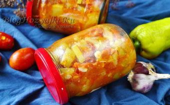 Овощной салат из кабачков