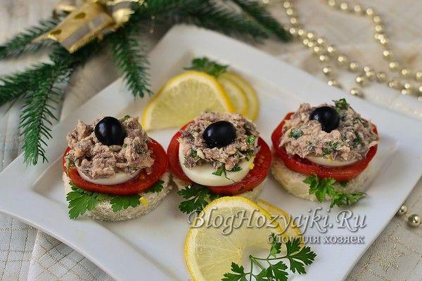 Бутерброды на Новый год - 12 рецептов на праздничный стол