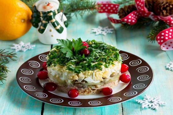 Салат Мимоза на Новый год 2022 - лучшие рецепты с новогодним оформлением