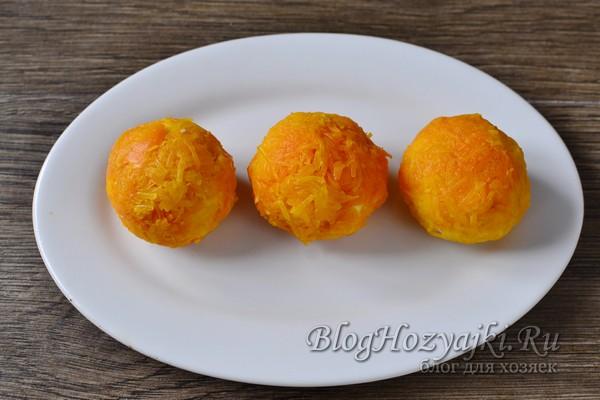 """Закуска """"Мандаринки"""" с курицей и сыром на Новый год"""