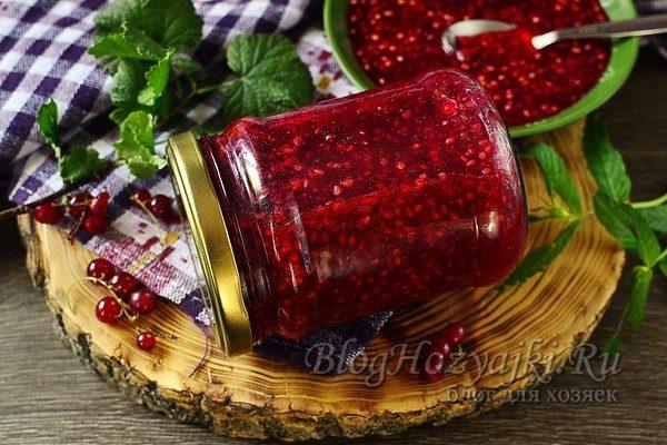 Рецепты перетертой красной смородины на зиму